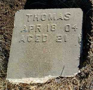 THOMAS, UNKNOWN - Yavapai County, Arizona   UNKNOWN THOMAS - Arizona Gravestone Photos