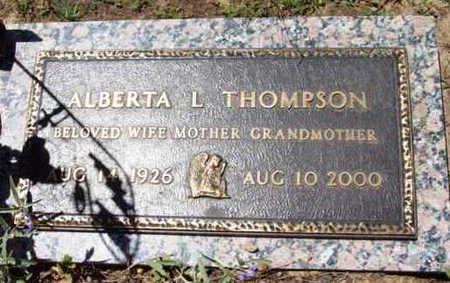 THOMPSON, ALBERTA L. - Yavapai County, Arizona | ALBERTA L. THOMPSON - Arizona Gravestone Photos