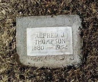 THOMPSON, ALFRED JAMES - Yavapai County, Arizona | ALFRED JAMES THOMPSON - Arizona Gravestone Photos