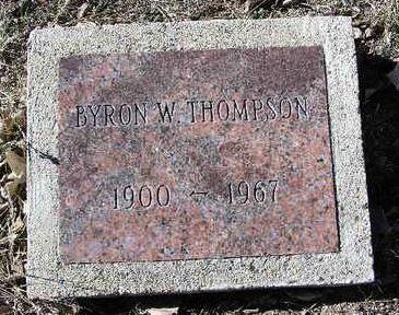 THOMPSON, BYRON W. - Yavapai County, Arizona   BYRON W. THOMPSON - Arizona Gravestone Photos