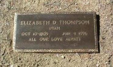 THOMPSON, ELIZABETH M. - Yavapai County, Arizona | ELIZABETH M. THOMPSON - Arizona Gravestone Photos