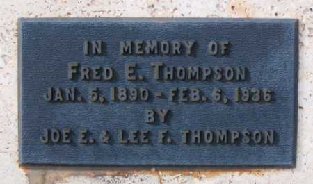 THOMPSON, FREDERICK EMORY - Yavapai County, Arizona | FREDERICK EMORY THOMPSON - Arizona Gravestone Photos