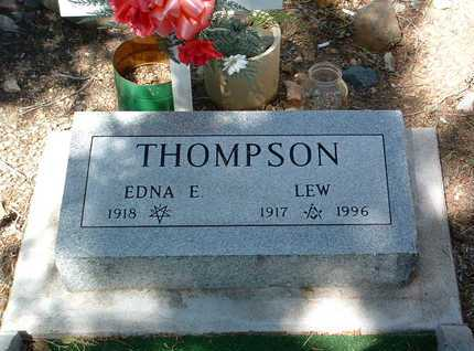 THOMPSON, LEW - Yavapai County, Arizona | LEW THOMPSON - Arizona Gravestone Photos