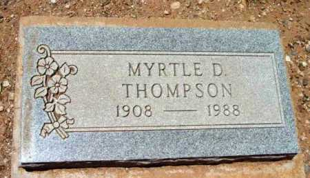 THOMPSON, MYRTLE D. - Yavapai County, Arizona | MYRTLE D. THOMPSON - Arizona Gravestone Photos