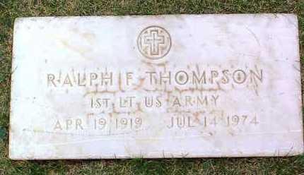 THOMPSON, RALPH F. - Yavapai County, Arizona | RALPH F. THOMPSON - Arizona Gravestone Photos