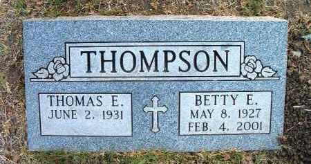 THOMPSON, BETTY E. - Yavapai County, Arizona | BETTY E. THOMPSON - Arizona Gravestone Photos