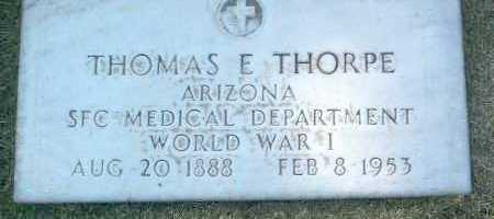 THORPE, THOMAS EDWARD, SR. - Yavapai County, Arizona | THOMAS EDWARD, SR. THORPE - Arizona Gravestone Photos