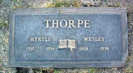 THORPE, WESLEY FRANK - Yavapai County, Arizona   WESLEY FRANK THORPE - Arizona Gravestone Photos