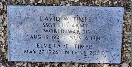 TIMPE, ELVERA E. - Yavapai County, Arizona   ELVERA E. TIMPE - Arizona Gravestone Photos