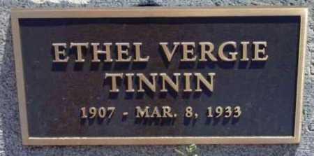 TINNIN, ETHEL VERGIE - Yavapai County, Arizona | ETHEL VERGIE TINNIN - Arizona Gravestone Photos