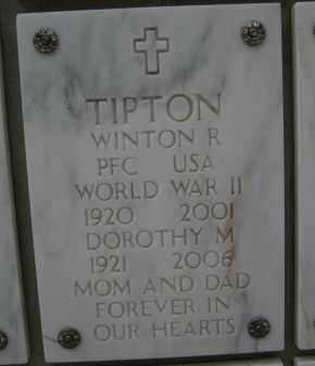 TIPTON, WINTON R - Yavapai County, Arizona | WINTON R TIPTON - Arizona Gravestone Photos