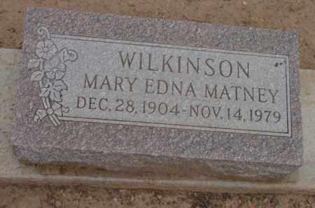 WILKINSON, MARY EDNA - Yavapai County, Arizona | MARY EDNA WILKINSON - Arizona Gravestone Photos