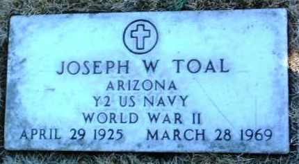 TOAL, JOSEPH W. - Yavapai County, Arizona | JOSEPH W. TOAL - Arizona Gravestone Photos