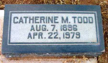 TODD, CATHERINE M. - Yavapai County, Arizona | CATHERINE M. TODD - Arizona Gravestone Photos