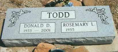 TODD, ROSEMARY L. - Yavapai County, Arizona | ROSEMARY L. TODD - Arizona Gravestone Photos