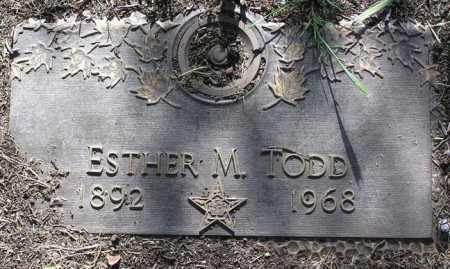 TODD, ESTHER M. - Yavapai County, Arizona | ESTHER M. TODD - Arizona Gravestone Photos