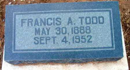 TODD, FRANCIS A. - Yavapai County, Arizona | FRANCIS A. TODD - Arizona Gravestone Photos