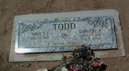 TODD, DOROTHY E. - Yavapai County, Arizona | DOROTHY E. TODD - Arizona Gravestone Photos