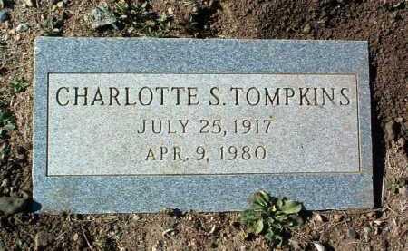 TOMPKINS, CHARLOTTE S. - Yavapai County, Arizona   CHARLOTTE S. TOMPKINS - Arizona Gravestone Photos