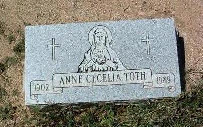 TOTH, ANN CECELIA - Yavapai County, Arizona   ANN CECELIA TOTH - Arizona Gravestone Photos
