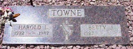 TOWNE, BETTY J. - Yavapai County, Arizona | BETTY J. TOWNE - Arizona Gravestone Photos