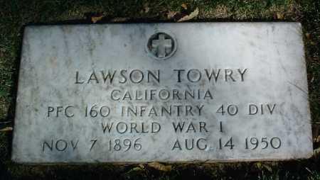 TOWRY, LAWSON - Yavapai County, Arizona   LAWSON TOWRY - Arizona Gravestone Photos