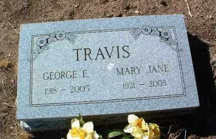 LEWIS TRAVIS, MARY JANE - Yavapai County, Arizona   MARY JANE LEWIS TRAVIS - Arizona Gravestone Photos