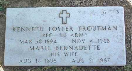 TROUTMAN, MARIE B. - Yavapai County, Arizona | MARIE B. TROUTMAN - Arizona Gravestone Photos