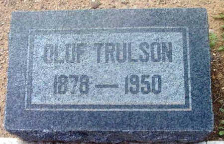 TRULSON, OLUF - Yavapai County, Arizona   OLUF TRULSON - Arizona Gravestone Photos