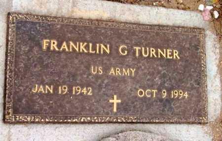 TURNER, FRANKLIN G. - Yavapai County, Arizona   FRANKLIN G. TURNER - Arizona Gravestone Photos