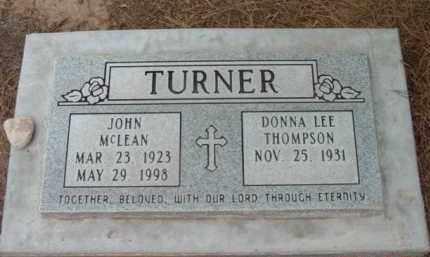TURNER, JOHN MCLEAN - Yavapai County, Arizona | JOHN MCLEAN TURNER - Arizona Gravestone Photos