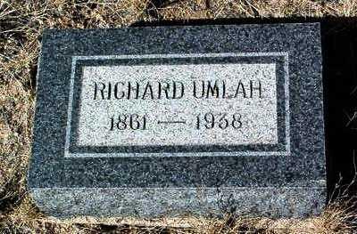 UMLAH, RICHARD - Yavapai County, Arizona | RICHARD UMLAH - Arizona Gravestone Photos