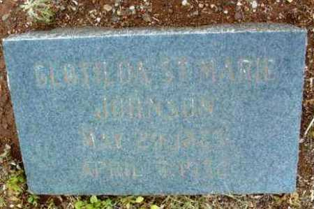 ST. MARIE JOHNSON, CLOTILDA - Yavapai County, Arizona | CLOTILDA ST. MARIE JOHNSON - Arizona Gravestone Photos