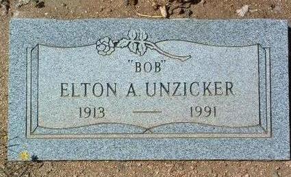 UNZICKER, ELTON A.  (BOB) - Yavapai County, Arizona | ELTON A.  (BOB) UNZICKER - Arizona Gravestone Photos