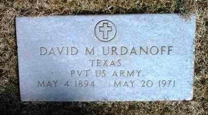URDANOFF, DAVID M. - Yavapai County, Arizona | DAVID M. URDANOFF - Arizona Gravestone Photos