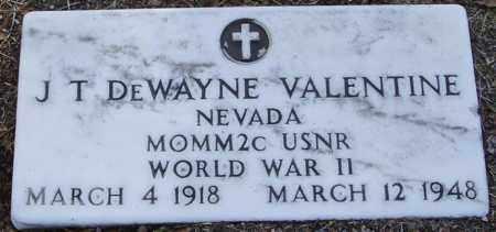 VALENTINE, J. T. DEWAYNE - Yavapai County, Arizona   J. T. DEWAYNE VALENTINE - Arizona Gravestone Photos