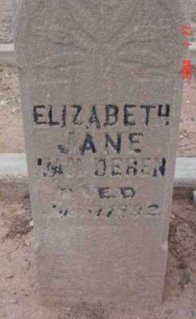 VAN DEREN, ELIZABETH JANE - Yavapai County, Arizona | ELIZABETH JANE VAN DEREN - Arizona Gravestone Photos