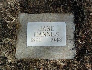 VANCE HANNES, JANE - Yavapai County, Arizona | JANE VANCE HANNES - Arizona Gravestone Photos