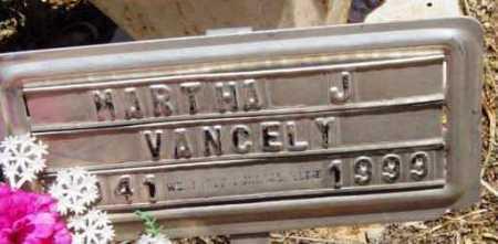 VANCELY, MARTHA J. - Yavapai County, Arizona | MARTHA J. VANCELY - Arizona Gravestone Photos