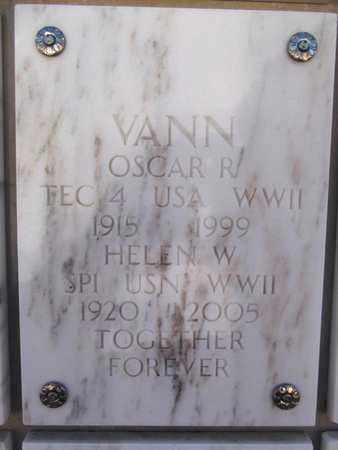 VANN, OSCAR R. - Yavapai County, Arizona | OSCAR R. VANN - Arizona Gravestone Photos
