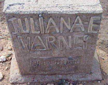 WARNER, JULIANA E. - Yavapai County, Arizona | JULIANA E. WARNER - Arizona Gravestone Photos
