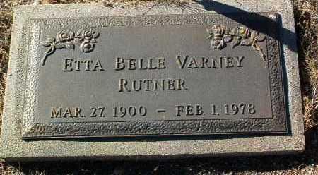RUTNER, ETTA BELLE - Yavapai County, Arizona | ETTA BELLE RUTNER - Arizona Gravestone Photos