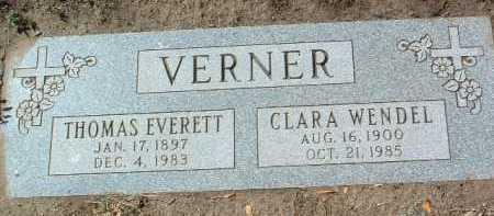 VERNER, THOMAS EVERETT - Yavapai County, Arizona | THOMAS EVERETT VERNER - Arizona Gravestone Photos