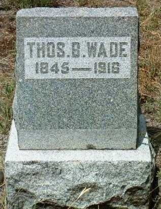 WADE, THOMAS BENTON - Yavapai County, Arizona   THOMAS BENTON WADE - Arizona Gravestone Photos