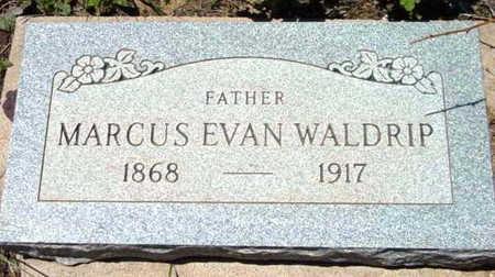 WALDRIP, MARCUS EVAN - Yavapai County, Arizona | MARCUS EVAN WALDRIP - Arizona Gravestone Photos