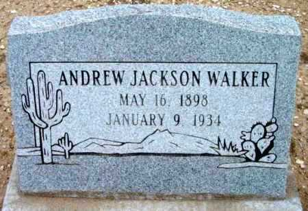 WALKER, ANDREW JACKSON - Yavapai County, Arizona | ANDREW JACKSON WALKER - Arizona Gravestone Photos