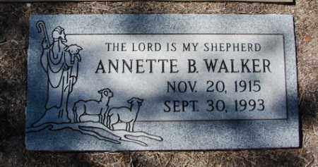 WALKER, ANNETTE B. - Yavapai County, Arizona | ANNETTE B. WALKER - Arizona Gravestone Photos
