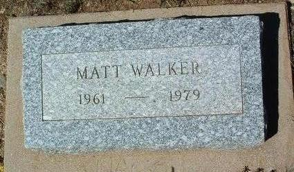 WALKER, MATTHEW EARL - Yavapai County, Arizona | MATTHEW EARL WALKER - Arizona Gravestone Photos