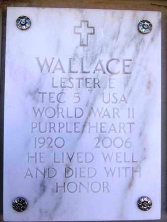 WALLACE, LESTER E. - Yavapai County, Arizona   LESTER E. WALLACE - Arizona Gravestone Photos