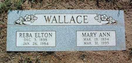 WALLACE, REBA ELTON - Yavapai County, Arizona   REBA ELTON WALLACE - Arizona Gravestone Photos